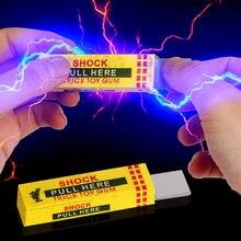 Juguete broma descarga eléctrica chewing gum pull Head shocking Toy niños regalo gadget broma gag divertido Juguetes (color al azar)