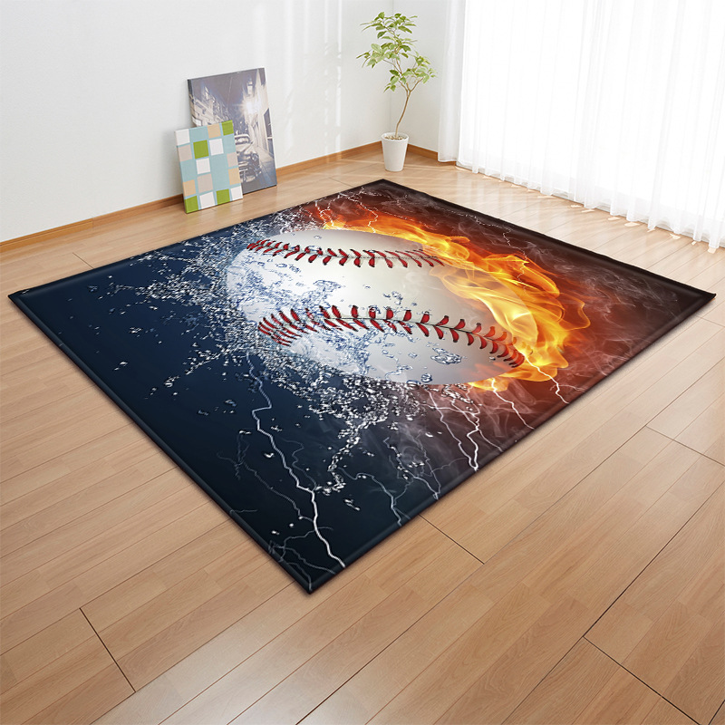 3D Sports Balls Carpet Children Room Decoration Area Rugs Basball Soccer Play Mat Boys Birthday Gift Living Room Rugs Carpets