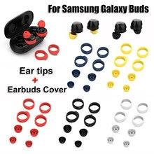 Anti-dérapant étui pour casque écouteurs Kits embouts d'oreille embouts en Silicone dans l'oreille écouteurs couverture pour Samsung Galaxy bourgeons