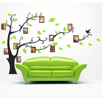 Family Photo Wall Sticker Home Decorations Wall Stricker Tree Living Room TV Background 3D Acrylic Picture Frame Wall Decals
