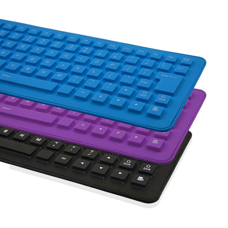 1 Stück Wasserdichte Usb Verdrahtete Tragbare Tastatur Englisch Layout 85 Tasten Stille Silikon Faltbare Wired Tastatur Für Tablet Pc Windows Hohe QualitäT Und Geringer Aufwand