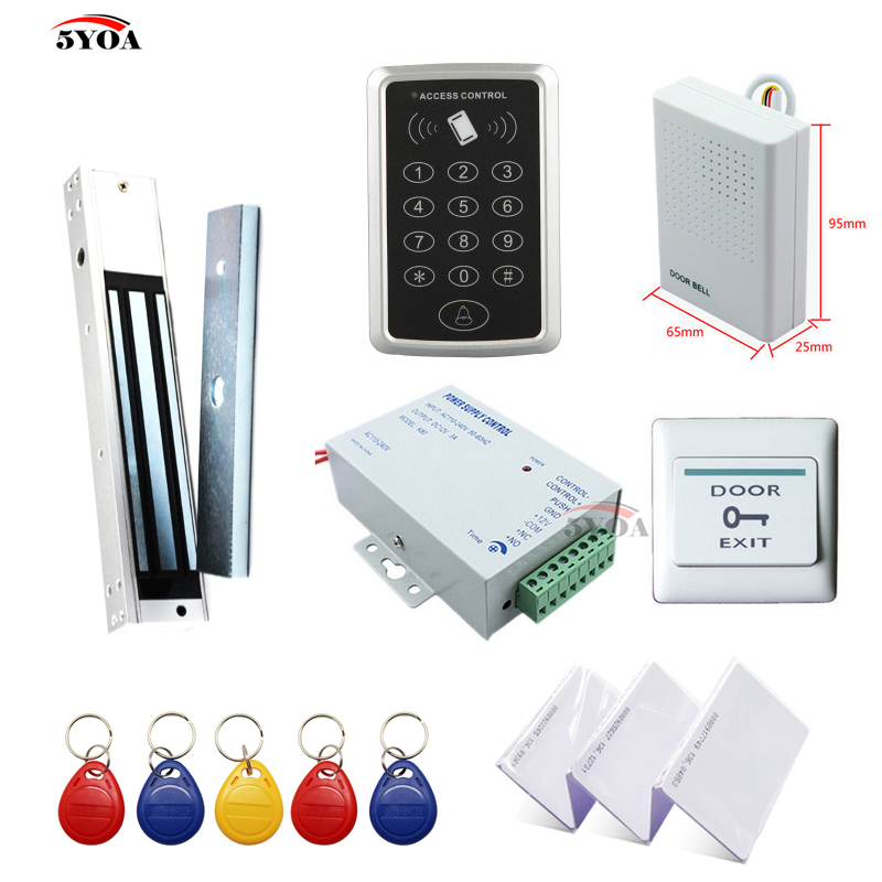 RFID Access Control System Kit Wooden Door Set+Eletric Magnetic Lock+ID Card Keytab+Power Supplier+Button+DoorBellRFID Access Control System Kit Wooden Door Set+Eletric Magnetic Lock+ID Card Keytab+Power Supplier+Button+DoorBell