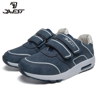 QWEST Brand Breathable Arch ZIP TPR& Lace Up Children Sport Shoes Leather Size 32 37 Kids Sneaker for Boy 91P XC 1350