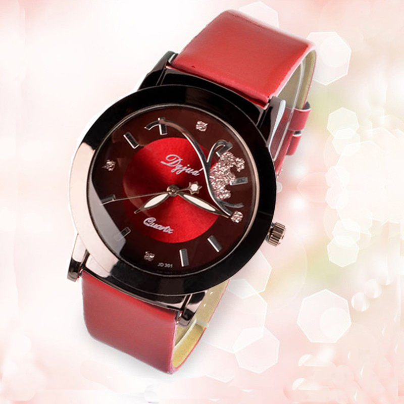 DGJUD New Fashion Casual Watches Women Quartz-Watch Leather Watch Strap Ladies Hodinky Relogio Feminino Relojes Mujer 2016 Clock relojes mujer classic new fashion casual watches women dress quartz watch mickey hollow dial leather wristwatch relogio feminino