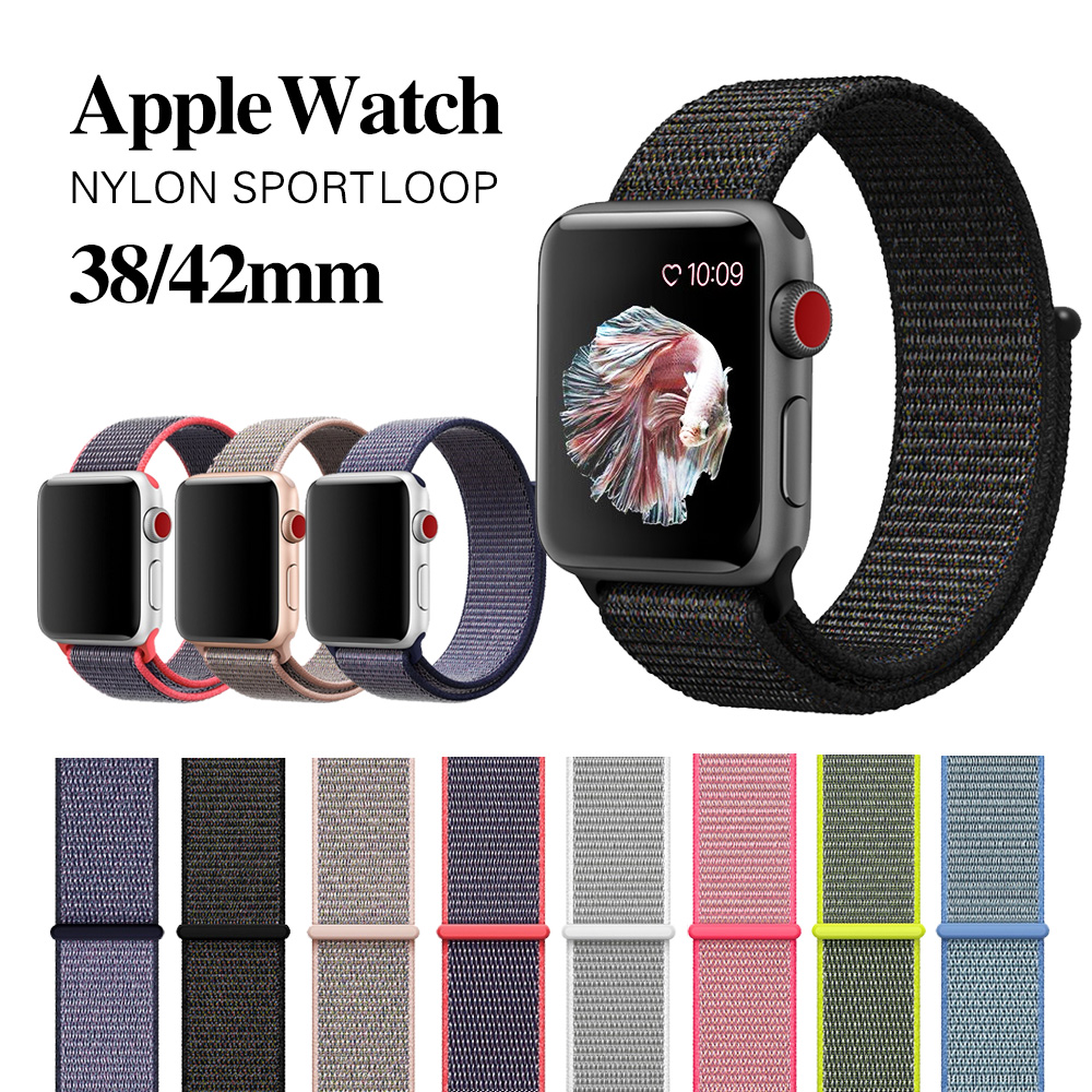 Strap For Apple Watch Band Apple Watch 5 4 3 Band 44mm/40mm Sport Loop Iwatch Band 54321mm 38mm Correa Pulseira Nylon Watchband