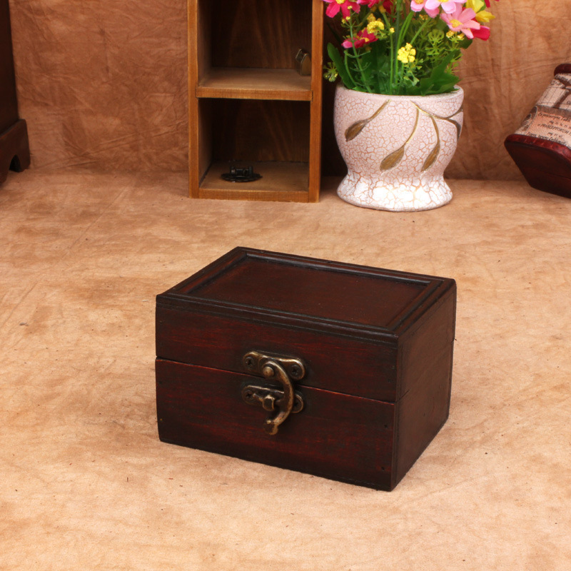 storage box makeup organizer antique wooden box storage jewelry boxes rangement maquillage caixa. Black Bedroom Furniture Sets. Home Design Ideas