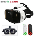 Hot BOBOVR Z4 MINI Headset 3D Glasses Virtual Reality Cardboard Helmet For 4'-6' Phone + Mocute Bluetooth Remote Control 051