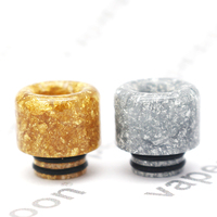 50pcs VapeSoon 510 Resin Drip Tip For TFV8 BABY MELO 3 MINI TFV12 Baby Prince IJUST S etc Sliver Gold Color