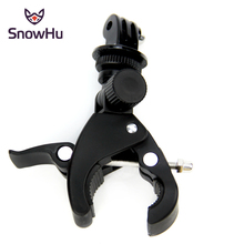 SnowHu for Gopro Accessories Mounting Motorcycle Bike Handlebar For Gopro Hero 7 6 5 4 Yi 4K Camera Holder Clip GP73