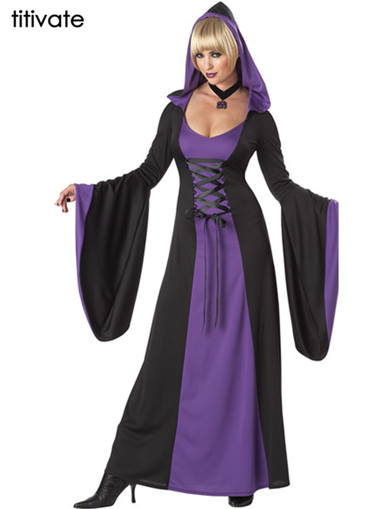 ④Titivate Hot Deluxe wicked Queen Costume mujeres bruja hechicera ...