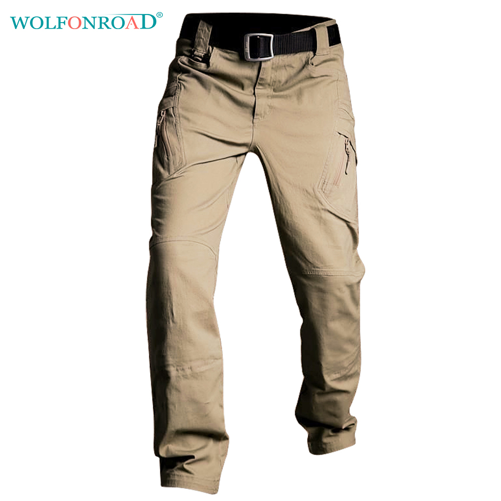 WOLFONROAD IX9 Men Pants Outdoor Hiking Trousers Cargo Combat Trousers SWAT Men's Tactical Pants Durable Sport Hunting Pants цена