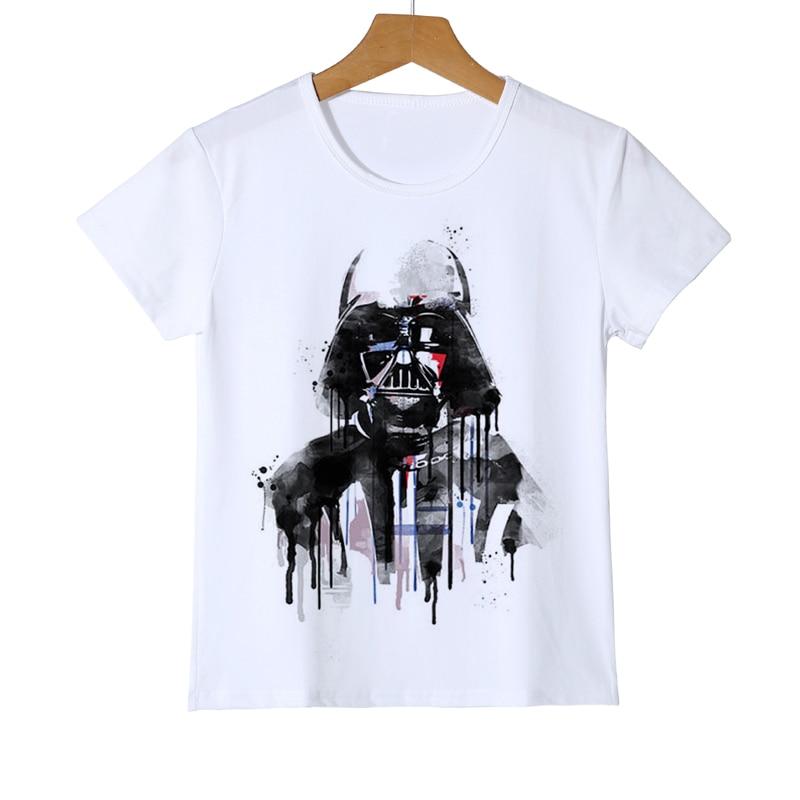 Star Wars gedruckt t-shirt kind kinder Lustiger roman junge mädchen baby top tees Harajuku krieger t-shirt Darth Vader camiseta Z34-14
