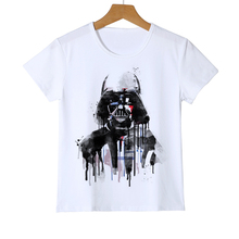 Star Wars printed t shirt kid Children's Funny novel boy girl baby top tees Harajuku warrior t shirt Darth Vader camiseta Z34-14