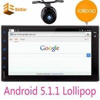 Quad Core Pure Android 5.1 Del Coche Reproductor Multimedia Car PC Tablet Double 2din 7 ''de Navegación GPS Car Stereo Radio Bluetooth SIN DVD