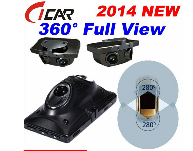 hot 360 degree full view car dvr 3 5 inch lcd 1080p full. Black Bedroom Furniture Sets. Home Design Ideas