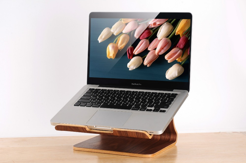 Fashion Wooden Notebook Laptop Stand Cooler Laptop Holder For Macbook Air For Macbook Pro Universal Wooden Bracket For Notebook