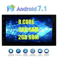 Android 7.1 Car Stereo 2Din head Unit 2din Radio Stereo Support Bluetooth GPS Navigation 3G/4G WIFI USB SD DAB+OBD2 Cam In 1080P