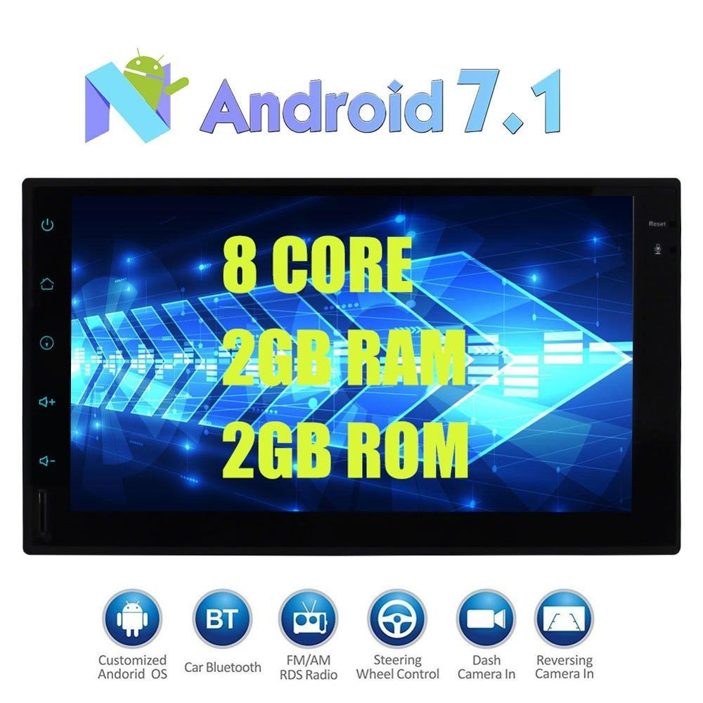 Android 7.1 Car Stereo 2Din head Unit 2din Radio Stereo Support Bluetooth GPS Navigation 3G/4G WIFI USB SD DAB+OBD2 Cam-In 1080P free wireless rear camera 2 din android 6 0 car stereo head unit touch screen car pc support bluetooth fm 1080p video 3g 4g wifi