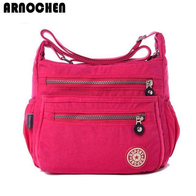 Hot!!! sacos de nylon mulheres Mensageiro saco mulheres bolsa de ombro Sacos Crossbody bolsas Das Senhoras da moda 9 sacos de escola cor sac um principal WC30