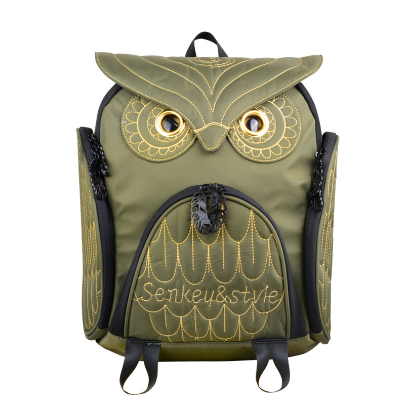 steelsir Personalized Women Pillow Owl Bag 3d Backpack With Gold Embossing Large/Small Optional Bolso Mujer Hombro Impermeable original design morn creations hoary gold cashmere owl shoulder bag woolen flannel women typical owl backpack