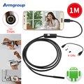 Endoskop 7mm 1 M USB Endoscópio Endoscópio Mini Câmera Câmera de Inspeção À Prova D' Água Telefone Android Android Borescope Endoscopio