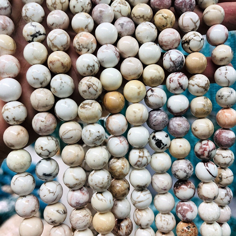 """Wholesale 1string of 15.5"""" Natural Magnesite Howlite Bead 6mm 8mm 10mm 12mm 14mm Brown Multi Gem stone Loose Jewelry beads"""