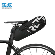 ROSWHEEL Brand Bike Saddle Bag 8-10L Waterproof Bicycle Rear Seat Bag Pannier Cycling Riding Storage Tail Bag Bike Accessories