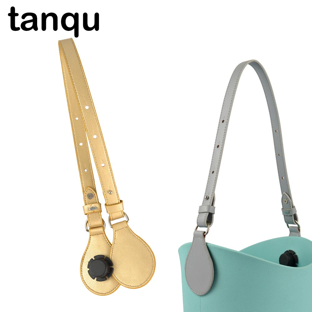 Tanqu 1 Piece Bidirectional Adjustable Flat Edge Paint Leather Belt Handle For Obag O Basket Bucket Women Handbag O Bag