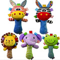 Bonito Animal Developmental Macio Stuffed Plush Toys Crianças Presentes Do Bebê Chocalhos Chocalhos Infantis