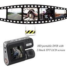 Car Dual Lens 2.0 Inch LCD Auto Car DVR Camera I1000 Full HD 1080P G-Sensor Dash Cam Rearview Camera Night Vision Video Recorder