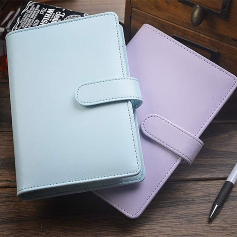 Business Traveler's Notebook Leather diary  looes leaf journal A6 Cute Kawaii Note book Planner Notepad BK09 high quality pu cover a5 notebook journal buckle loose leaf planner diary business buckle notebook business office school gift