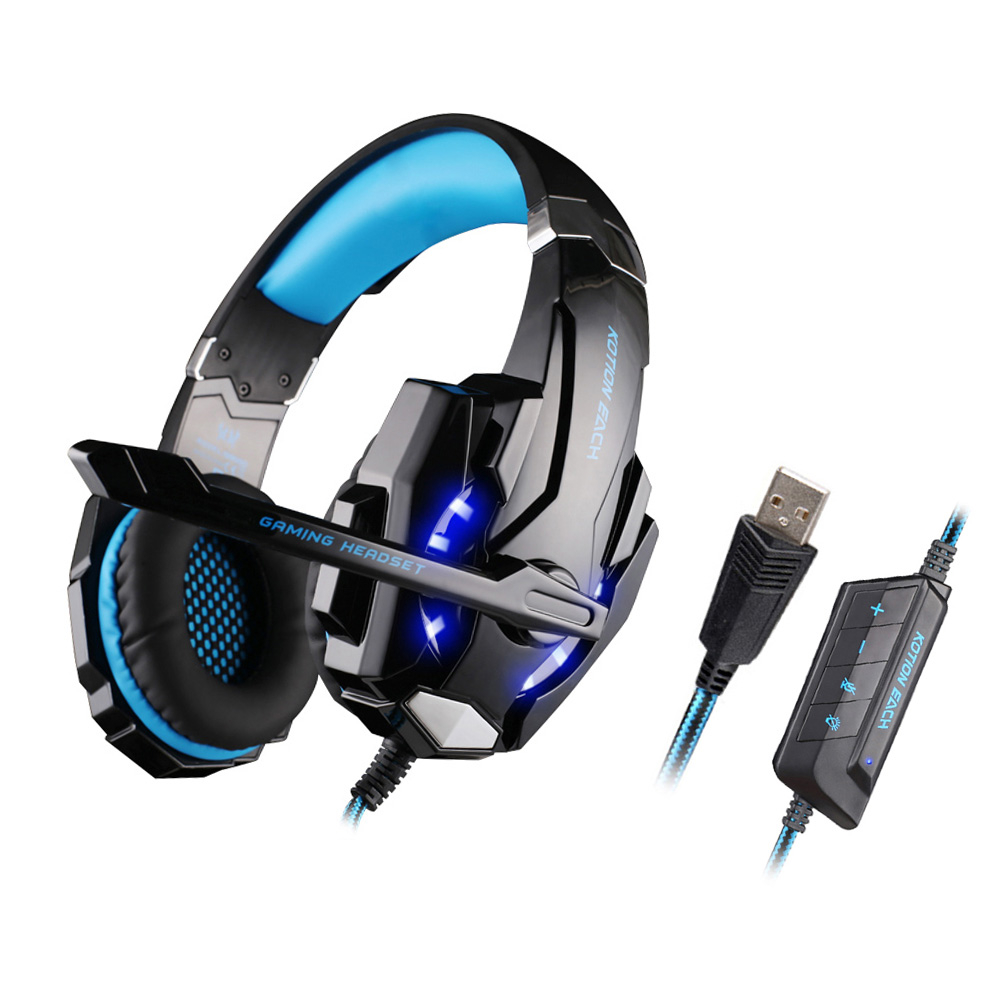 KOTION EACH G9000 USB Led Gaming Headphones with Microphone 7.1 Surround Sound Auriculares Game Headset LED Light for PC Gamer kotion each g9000 pc gamer headphones gaming headset gamer auriculares fones de ouvido with microphone led noise canceling