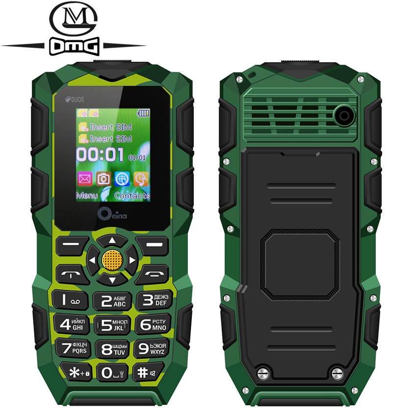 Waterproof shockproof mobile phone Arabic Russian Keyboard Dual SIM card Power Bank Wireless FM flashlight OEINA