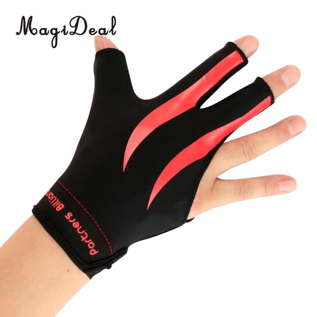 Billiard Glove 3 Finger Snooker Handschuh MagiDeal Billardhandschuh