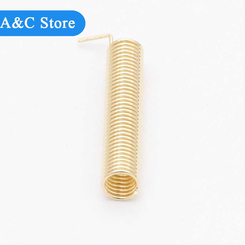 100pcs <font><b>315MHz</b></font> 2.15dBi Copper Helical <font><b>Antenna</b></font> for RF Transceiver Wireless Transmission factory outlet high gain helical material image