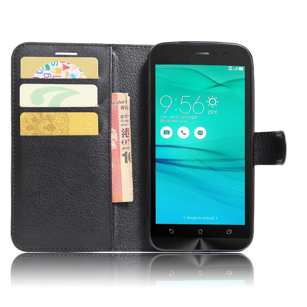 Роскошный Телефон Защитная Капа Case Для Asus ZenFone Go ZB500KL ZB500KG ZB452KG ZB450KL ZB551KL Откидная Крышка Бумажник PU Кожаная Сумка