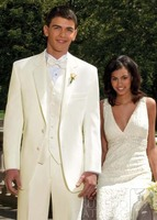 Ivory Linen Suits Beach Wedding Suits For Men Tailored Linen Suit Custom Made Groom Tuxedo, Ideal Choice For Hot Summer Wedding