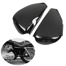 купить Left Right Side Battery Cover Fit For Harley Sportster XL 1200 883 48 72 2004-2013 Iron 883 04-13 12 по цене 4540.53 рублей