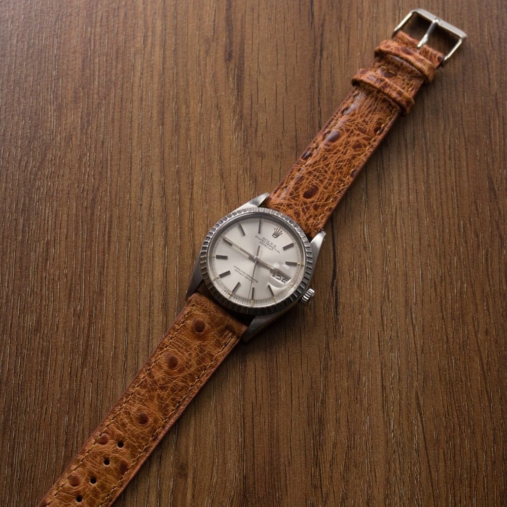 Kvarnsjo_leather_classic_watch_band_ostrich_brown_watch_strap-1-2