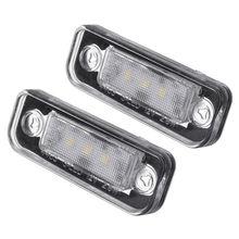 2 * 3-SMD LEVOU 7000-8000 k Lâmpadas Luzes Da Placa de Licença Para O Benz C E-Classe W211 W203