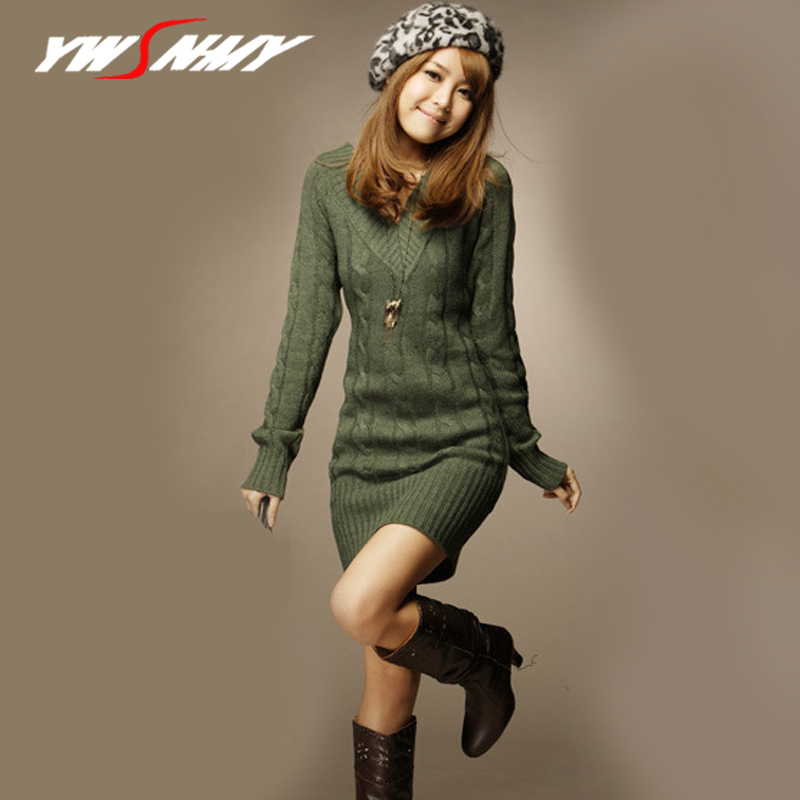 Women Casual Short Sweater Dress Female Autumn Winter White Long Sleeve knitted Sweaters Dresses Sexy Package Hip Mini Dress
