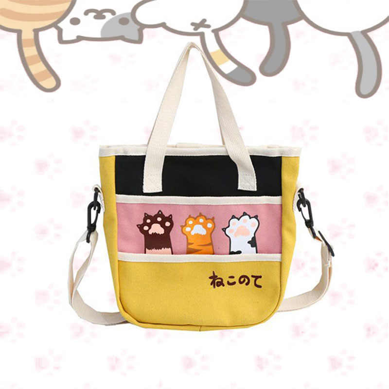 Neko Atsume women's handbag women funny cat pad canvas messenger bags cute shoulder Crossbody bag bolsa feminina