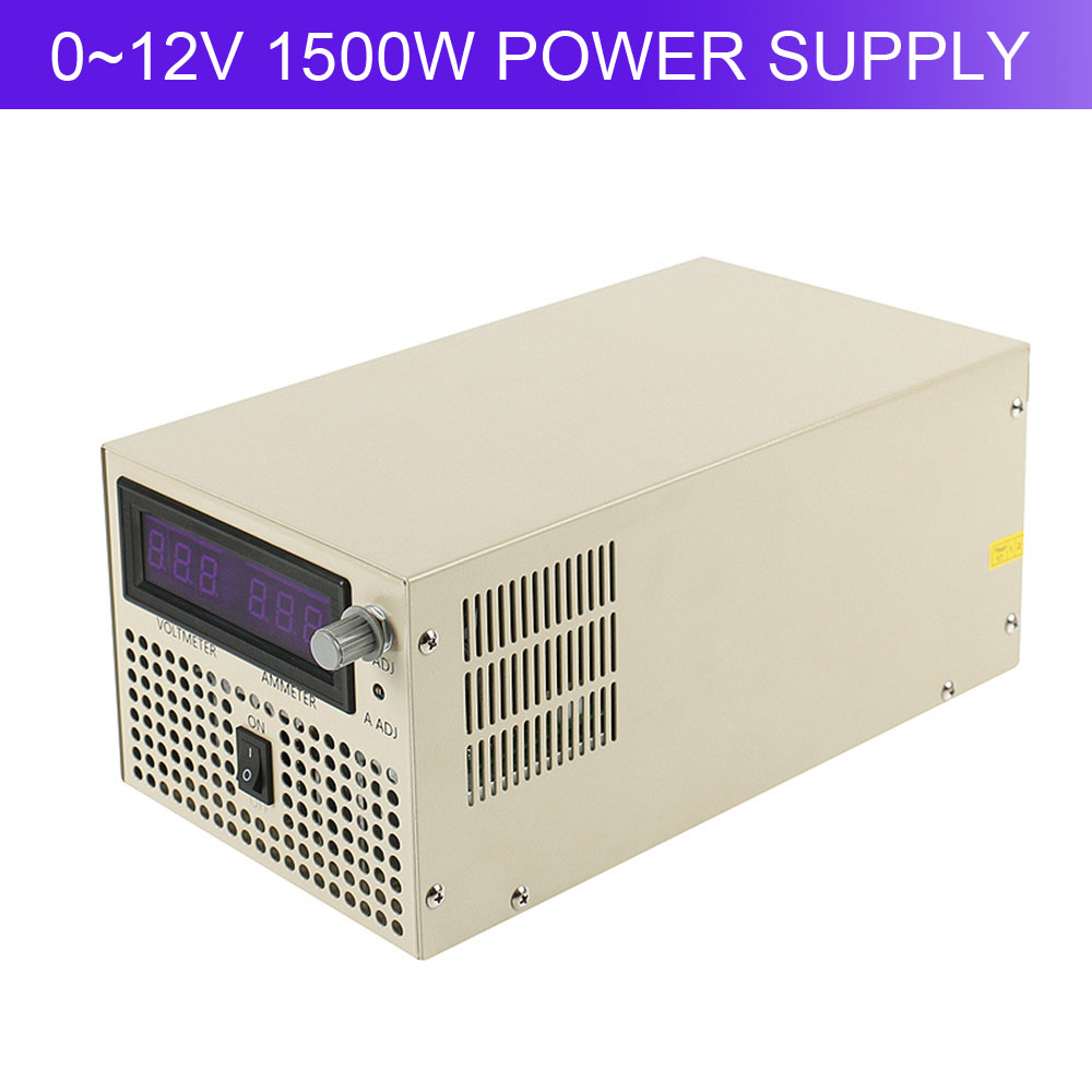 High Power High Quality Ac to Dc 0~12V Adjust 1500W Switching Power Supply With Digital Display meanwell 12v 350w ul certificated nes series switching power supply 85 264v ac to 12v dc