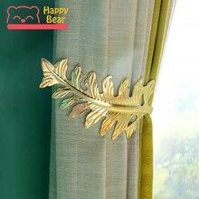 1 пара домашнего медного искусства Магнитный кристаллик для занавесок в форме листа занавеска s декоративные аксессуары занавеска для дома аксессуары для окна