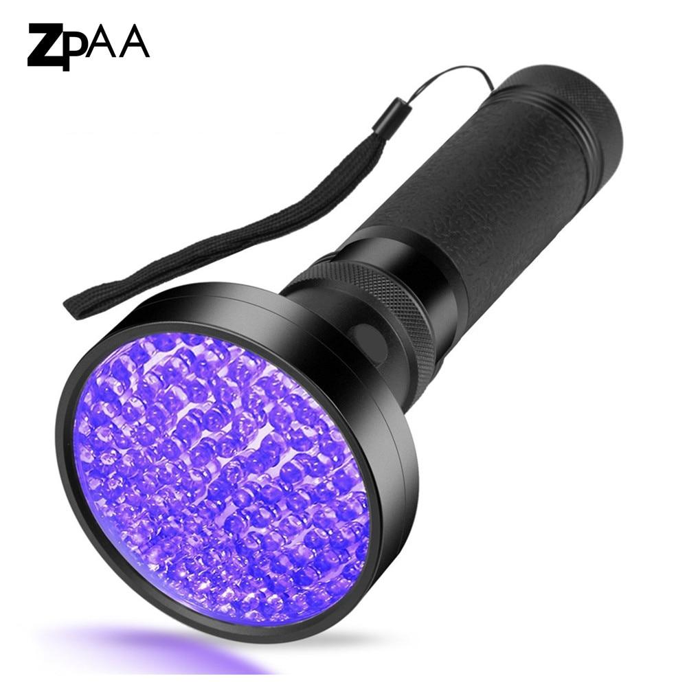 UV Flashlight 100 UV LED 395-400nm Black Light Ultraviolet Blacklight Detector Flashlight for Dog Urine Pet Stains Bed Bug sd 01 uv light 400nm 51 led 1 mode flashlight black 3 x aa