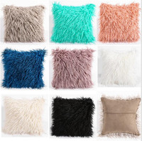 Soft Plush Faux Fur Decorative Cushion Cover Throw Pillows For Sofa Car Chair Hotel Home Decoration Decorative Pillows Car Cover