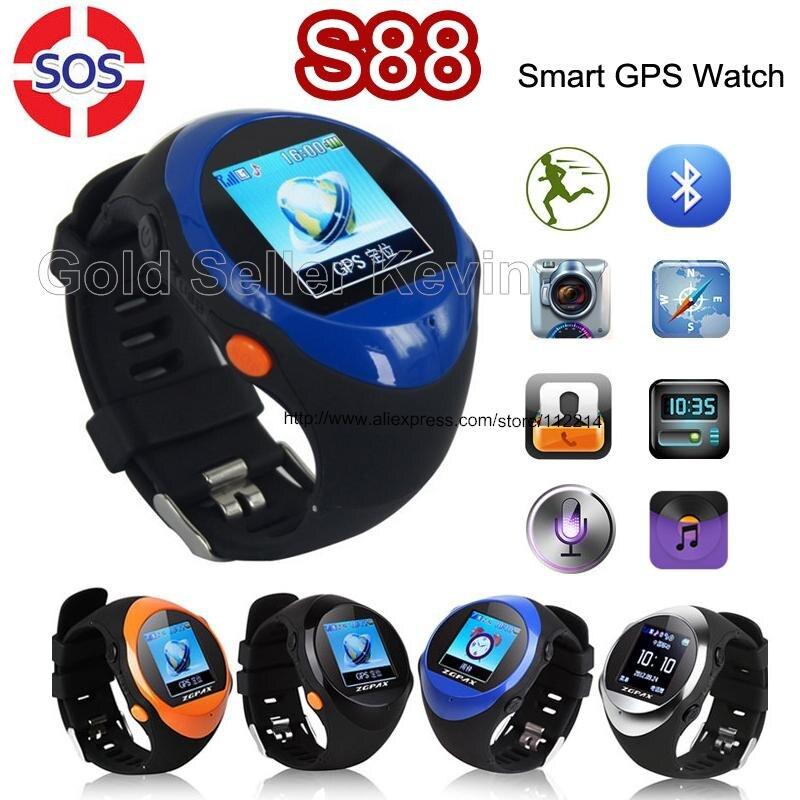 imágenes para Original ZGPAX S88 SOS Bebé Reloj Inteligente para Los Niños Mayores U Smartwatch con Ranura SIM Pantalla LCD GPS Posición LBS ubicación