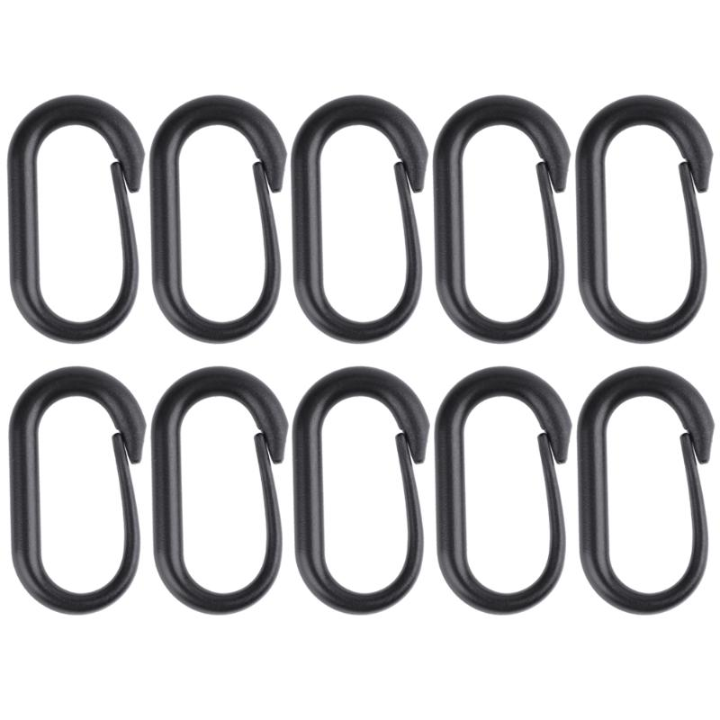 10pcs Mini Portable Outdoor Tools Carabiner Buckle Keychain U-Ring for Tactical MOLLE Webbing Backpack Camping Multi Tool