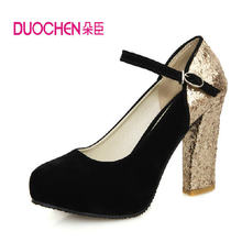 2014 New  Women Sexy Pumps Women's Thick Heel Ultra High Heels Bride Wedding Party Dance Shoes 11cm Heel Free Shipping Q686