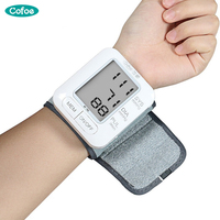 Cofoe English Broadcast Tonometer LCD Digital Household Sphygmomanometer Automatic Digital Wrist Blood Pressure monitor